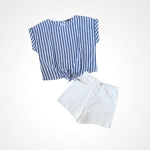 🌸New🌸 Shein Women's 2pc Blouse Short Set M L NWT